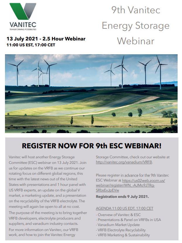 Vanitec 9th Energy Storage Meeting